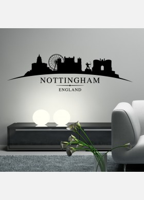 Nottingham city skyline wall stickers landscapes art decal sl2