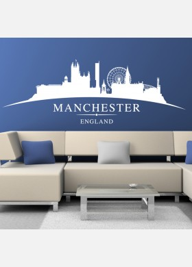Manchester city skyline wall stickers landscapes art decal sl3