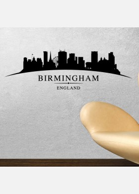 Birmingham city skyline wall stickers landscapes art decal sl5