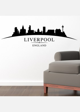 Liverpool city skyline wall stickers landscapes art decal sl6