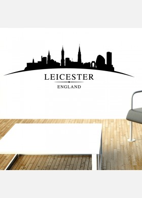 Leicester city skyline wall stickers landscapes art decal sl7