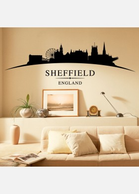 Sheffield city skyline wall stickers landscapes art decal sl8