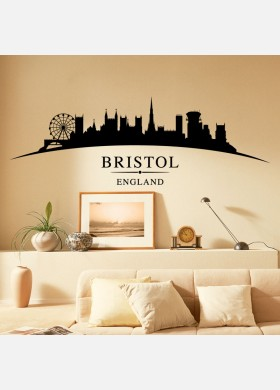 Bristol city skyline wall stickers landscapes art decal sl9