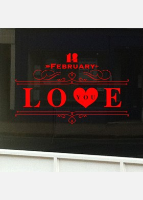 Valentines Day Shop Sticker vd6