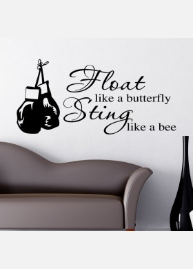 Float Like A Butterfly Sting Like A Bee Wall Sticker