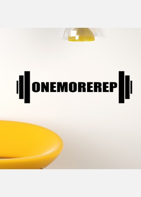 One more rep wall sticker