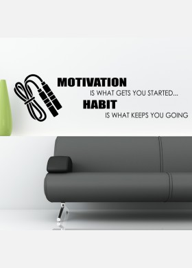 Habit is what keeps you going wall sticker