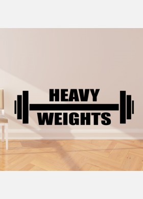 Heavy weights wall sticker
