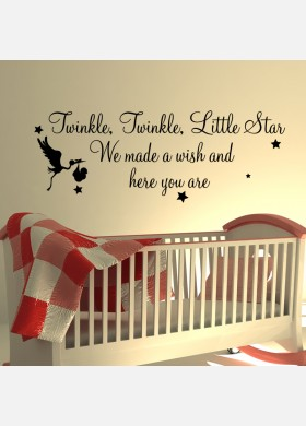 Twinkle Twinkle Little Star we made a wish and here you are Wall Sticker