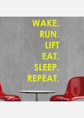 Motivational Fitness Gym Life Quote wall vinyl decals stickers Art Decor