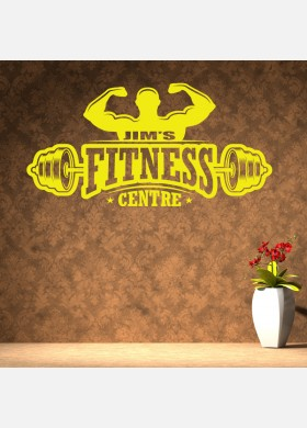 Fitness Centre Gym Wall Sticker