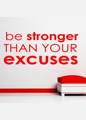 Be Stronger Gym Wall Sticker