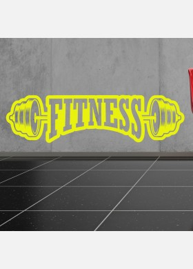 Fitness Weight Lifting Gym Wall Sticker