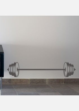 Weight Lifting Gym Wall Sticker