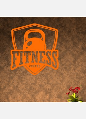 Fitness Centre and Weights Wall Sticker