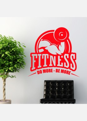 Do More Be More Fitness Centre and Weights Wall Sticker