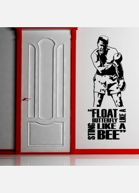 Float like a butterfly, sting like a bee wall vinyl decals stickers Art Decor