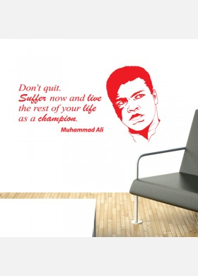 Muhammad Ali wall sticker quote Wall Decal don't quit w189