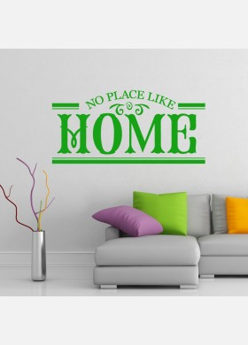 No place like home wall sticker family art decal w198