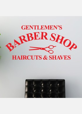 Gentlemen's Barber Shop wall sticker haircut Decal w205