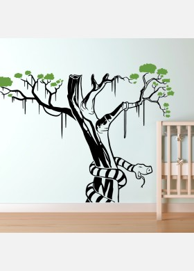 Snake wall sticker art decal Jungle forest theme kids bedroom decor w210