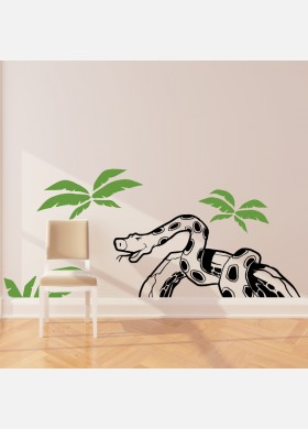 Snake wall sticker art decal Jungle forest theme kids bedroom decor w213