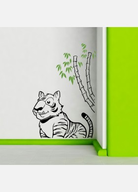 Tiger wall sticker art decal Jungle forest theme kids bedroom decor w214