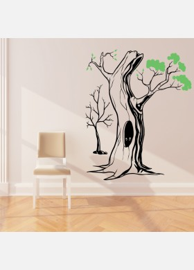 Tree wall sticker Fairytale art decal forest theme kids bedroom decor w217