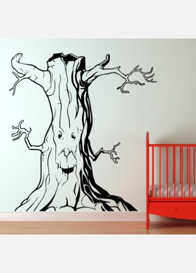 Tree wall sticker Fairytale art decal forest theme kids bedroom decor w222