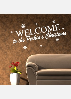 Personalised Family Christmas Wall Sticker