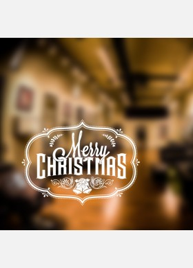Merry Christmas Decal Wall Sticker