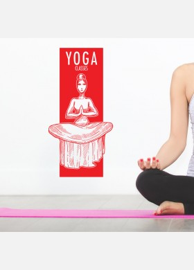 Yoga wall sticker meditation namaste spiritual buddha graphics decal art y11