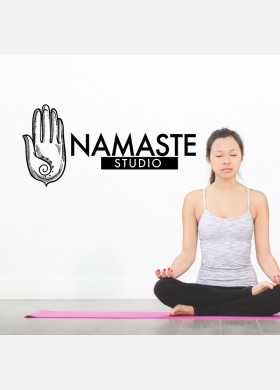 Yoga wall sticker meditation namaste spiritual buddha graphics decal art y12