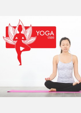 Yoga wall sticker meditation namaste spiritual buddha graphics decal art y13