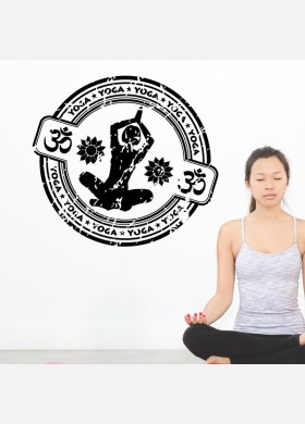 Yoga wall sticker meditation namaste spiritual buddha graphics decal art y3