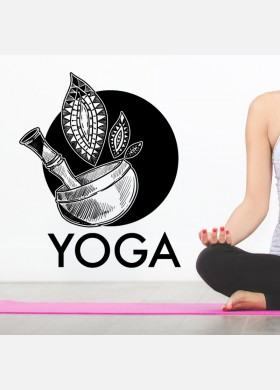Yoga wall sticker meditation namaste spiritual buddha graphics decal art y8